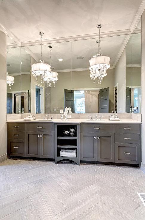 Floor Lights In Bathroom : Vanity chandeliers transitional kitchen clark and co