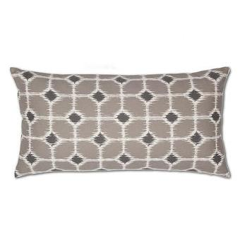 Decor/Accessories - Gray and White Ikat Diamonds Throw Pillow | Crane & Canopy - ikat throw pillow, throw pillows, decorative throw pillows, accent pillows, decorative pillows, gray throw pillows