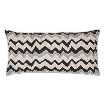Decor/Accessories - Gray and White Chevrons Throw Pillow | Crane & Canopy - throw pillows, decorative throw pillows, accent pillows, decorative pillows, chevron pillow