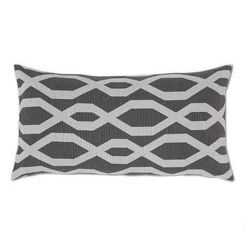 Decor/Accessories - Black and White Gate Throw Pillow | Crane & Canopy - throw pillows, decorative throw pillows, accent pillows, decorative pillows, black throw pillow
