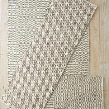 Rugs - Eileen Fisher Diamond-Weave Jute & Cotton Rug I Garnet Hill - diamond pattern jute rug, geometric jute rug, patterned jute rug, jute cotton rug,
