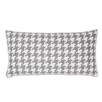 Decor/Accessories - Gray and White Houndstooth Throw Pillow | Crane & Canopy - throw pillows, decorative throw pillows, accent pillows, decorative pillows, houndstooth throw pillow
