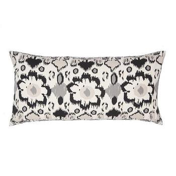 Decor/Accessories - Gray and White Flowers Throw Pillow | Crane & Canopy - throw pillows, decorative throw pillows, accent pillows, decorative pillows, ikat throw pillow