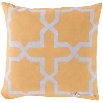 Pillows - DwellStudio Madurai Lemon Outdoor Pillow | DwellStudio - yellow moroccan pillow, yellow moorish pillow, yellow moroccan tile pillow,