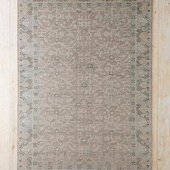 Rugs - Patina Hand-Knotted Wool Rug I Garnet Hill - lavender and gray rug, faded lavender and gray rug, pink and gray faded rug,