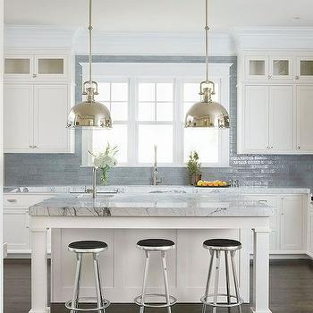 Grey Subway Tiles Contemporary Kitchen Martha O Hara
