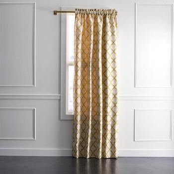 Window Treatments - DwellStudio Casablanca Geo Curtain Panel | DwellStudio - yellow moroccan tile drapes, yellow and ivory moroccan drapes, yellow moroccan tile curtains,