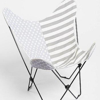 Seating - 4040 Locust Flag Butterfly Chair Cover I Urban Outfitters - gray and white butterfly chair, american flag butterfly chair, faded flag butterfly chair,