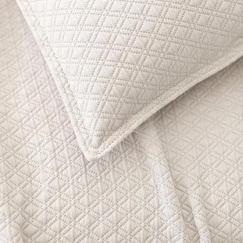 Bedding - Diamond Platinum Matelasse Coverlet | Pine Cone Hill - diamond matelasse coverlet, diamond matelasse bedding, white diamond matelasse coverlet,
