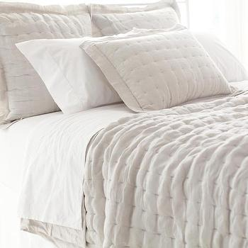 Bedding - Brussels Quilt | Pine Cone Hill - linen quilt, tufted linen quilt, natural linen quilt,