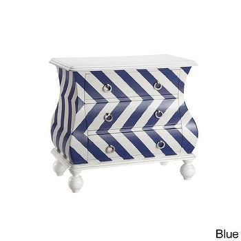 Storage Furniture - Intelligent Design Chevron Bombe Chest | Overstock.com - blue and white chevron chest, chevron bombe chest, blue and white bombe chest,