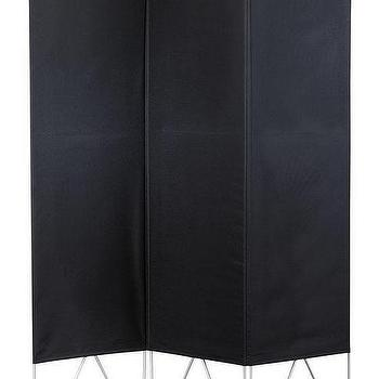 Decor/Accessories - Vector Room Divider | HomeDecorators.com - black room divider, black room screen, modern black room divider,