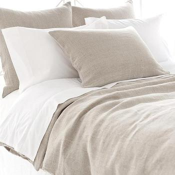 Bedding - Stone Washed Linen Duvet Cover | Pine Cone Hill - stone washed linen duvet, taupe linen bedding, taupe linen duvet cover,