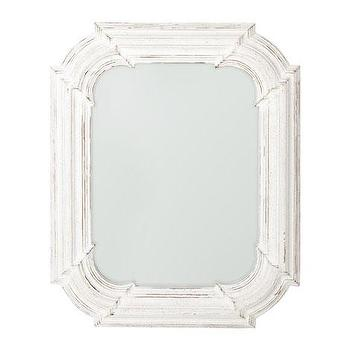 Mirrors - Octagonal Mirror | ZARA HOME - white washed mirror, white octagonal mirror, antiqued octagonal mirror, distressed octagonal mirror,