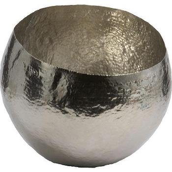 Decor/Accessories - Brass Bowl | HomeDecorators.com - hammered nickel bowl, hammered silver bowl, hammered metal bowl,