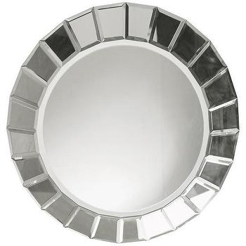 Mirrors - Fortune Mirror | HomeDecorators.com - modern round mirror, round beveled mirror, round mirrored sunburst mirror,