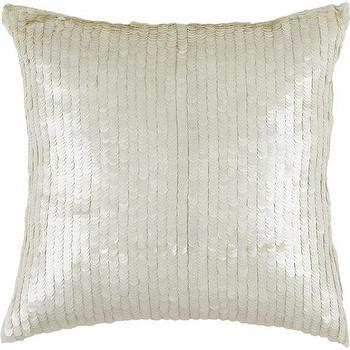Pillows - Sequin Pillow | HomeDecorators.com - ivory sequinned pillow, metallic sequinned pillow, sequin pillow,