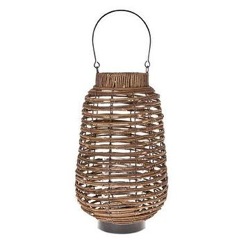 Decor/Accessories - Metal and Wooden Lantern | ZARA HOME - woven candle lantern, woven candle holder, metal and wood candle holder,