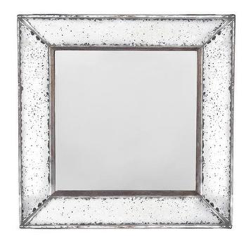 Mirrors - Marilyn Square Mirror | HomeDecorators.com - antiqued wall mirror, antiqued square wall mirror, square shaped antiqued mirror,