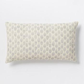 Pillows - Stamped Mini Dot Pillow Cover - Platinum | West Elm - gray dot lumbar pillow, gray mini dot pillow, gray and ivory polka dot pillow,