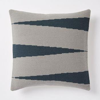 Pillows - Steven Alan Zigzag Pillow Cover Blue Lagoon | West Elm - blue and gray chevron pillow, blue and gray zig zag pillow, woven blue and gray pillow,