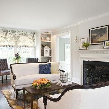 Sofas Facing Each Other, Transitional, living room, Benjamin Moore Pale Oak, Marks & Frantz