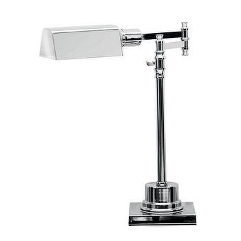 Lighting - Andrew Martin Anson Desk Light | Amara - polished chrome desk lamp, swing arm chrome desk lamp, traditional chrome desk lamp,