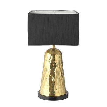 Lighting - Day Birger Et Mikkelsen Organica Table Lamp - Gold | Amara - modern gold table lamp, metallic gold table lamp, gold table lamp with black shade,