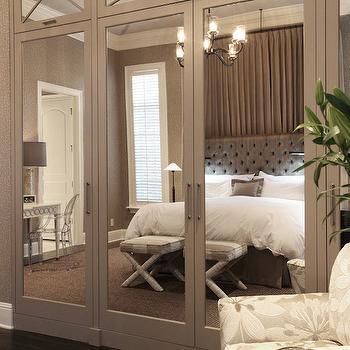 Mirrored Closet Doors, Transitional, bedroom, Wolfe Rizor Interiors