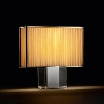 Lighting - Kartell TatiTable Lamp - Soft | Amara - art deco table lamp, glass table lamp, glass table lamp with pleated shade,