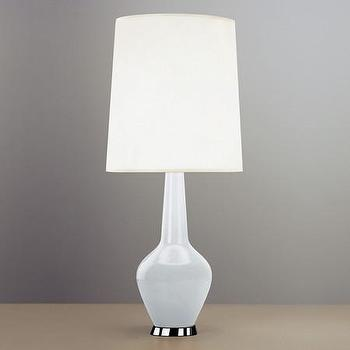 Lighting - Jonathan Adler Capri Bottle Table Lamp - White | Amara - white glass table lamp, retro white table lamp, modern white glass table lamp,