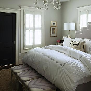 Ribbon Trimmed Headboard, Transitional, bedroom, Hallie Henley Design