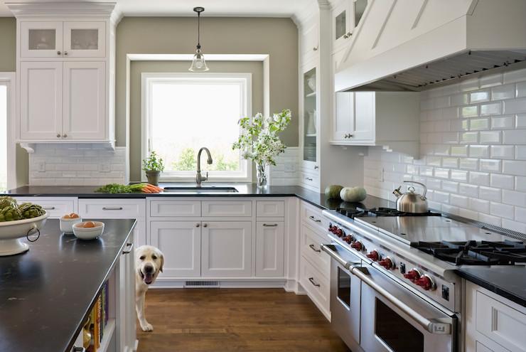 Kitchen sherwin williams pavestone liz schupanitz designs - Aqua Grantique Transitional Kitchen Sherwin Williams