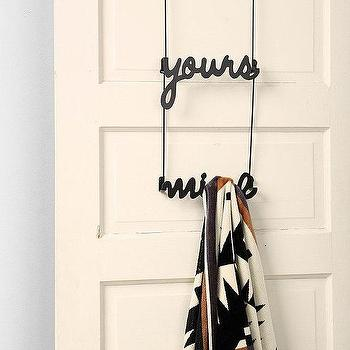 Decor/Accessories - Yours & Mine Over-The-Door Hook I Urban Outfitters - yours and mine door hooks, yours and mine room decor, yours and mine over the door hook,