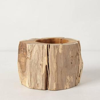 Decor/Accessories - Tree Trunk Planter I anthropologie.com - tree trunk planter, hollowed trunk planter, tree trunk plant pot,