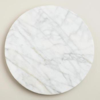 Decor/Accessories - White Marble Lazy Susan | World Market - marble lazy susan, round marble lazy susan, white marble lazy susan,