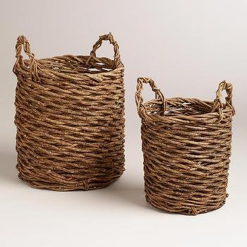 Decor/Accessories - Manuela Vine Baskets | World Market - woven vine baskets, woven baskets with handles, filipino woven baskets,
