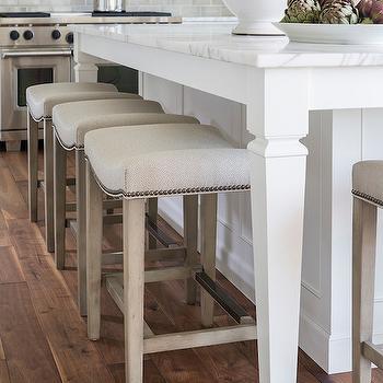 Gray Ceramic Tiles Transitional Kitchen Benjamin