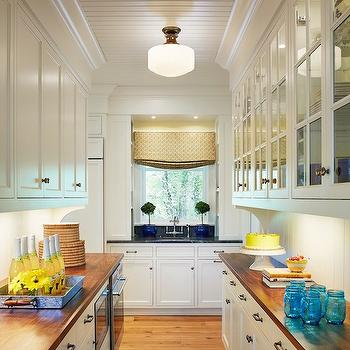 Galley Butlers Pantry, Traditional, kitchen, Benjamin Moore White Dove, Martha O'Hara Interiors