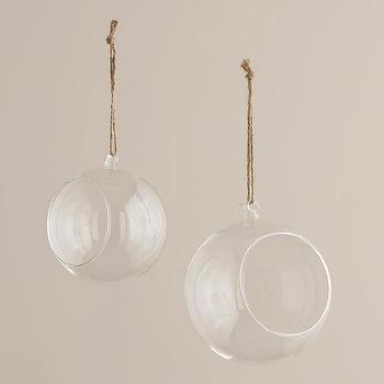 Decor/Accessories - Round Hanging Bud Vase Terrarium | World Market - round hanging glass terrarium, hanging terrarium, bud vase terrarium,