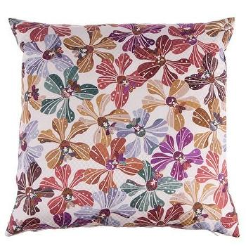 Pillows - Missoni Home Meketewa Cushion | Amara - multi colored floral pillow, missoni floral pillow, multi colored floral print pillow,