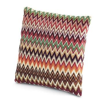 Pillows - Missoni Home Nador Cushion | Amara - zigzag patterned pillow, retro chevron pillow, multi colored missoni pillow,