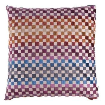 Pillows - Missoni Home Maseko Cushion | Amara - multi colored checkered pillow, multi colored missoni pillow, missoni checkered pillow,