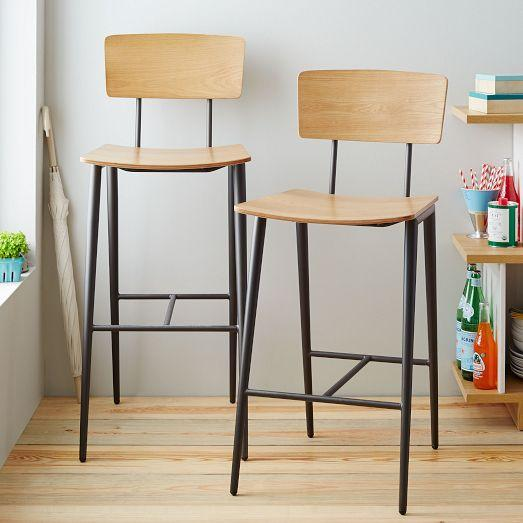 Slope Leg Bar Counter Stool West Elm