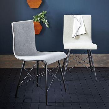 Seating - Crisscross Dining Chair | West Elm - metal based dining chair, metal stretcher dining chair, metal and canvas dining chair,