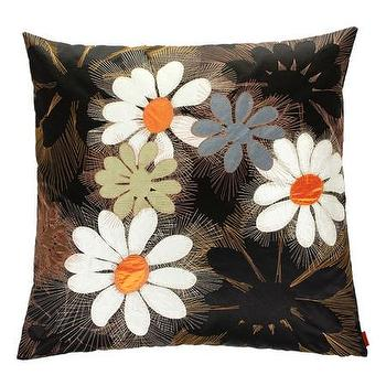 Pillows - Missoni Home Orly Cushion | Amara - black daisy print pillow, modern daisy print pillow, missoni daisy print pillow,