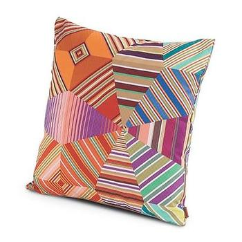 Pillows - Missoni Home Noceda Cushion | Amara - graphic geometric pillow, multi colored graphic pillow, multi colored missoni pillow,