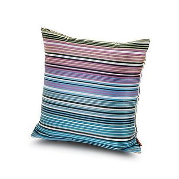 Pillows - Missoni Home Claremont Cushion | Amara - gradiated striped pillow, purple and blue striped pillow, purple and blue missoni pillow,