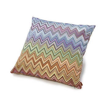 Pillows - Missoni Home Jarris Cushion | Amara - missoni zigzag pillow, rainbow zigzag pillow, rainbow chevron pillow,