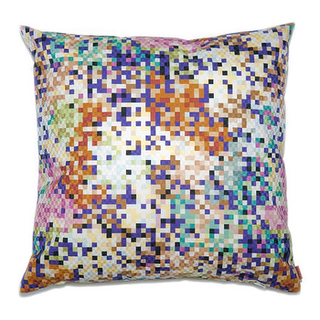 Pillows - Missoni Home Lobos Cushion | Amara - pixel print pillow, multi colored pixel pillow, pixel patterned pillow,